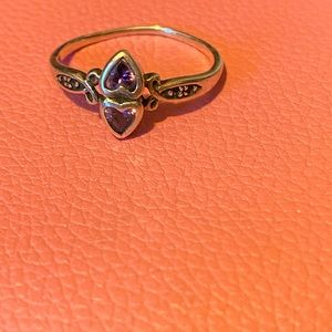 Beautiful ring two hearts